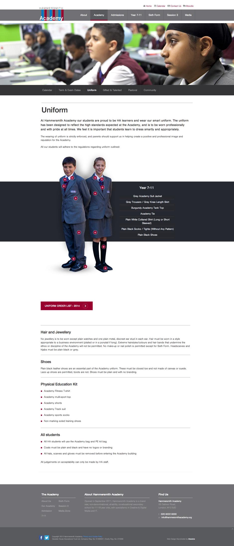 Blog Post >> Hammersmith Academy | Simon Owen | Front-End Developer