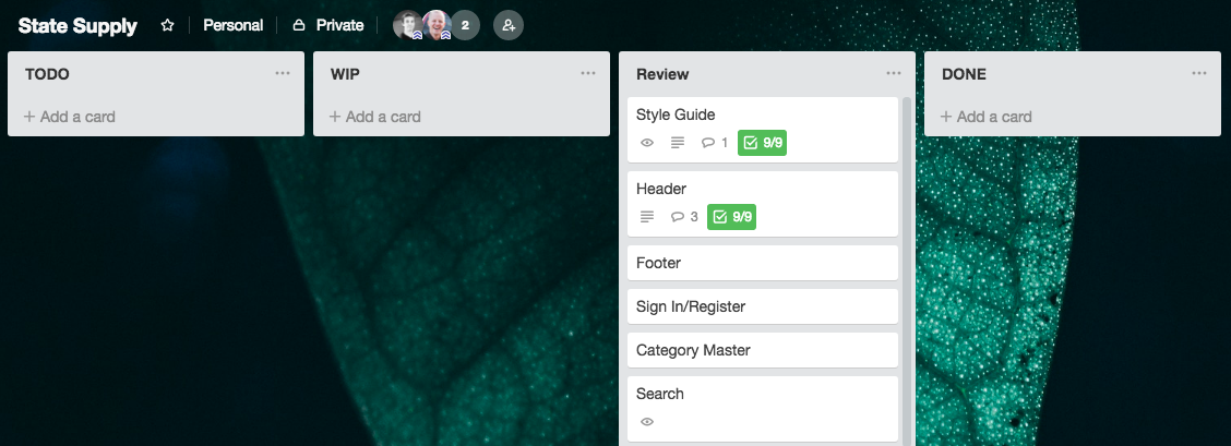 State Supply Trello